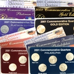2001 Quarter Mania Uncirculated Set - Standard (4 Sets)